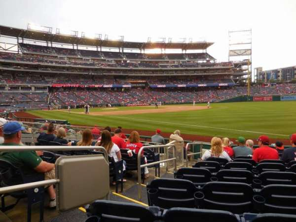 Nationals Park, section 135, home of Washington Nationals