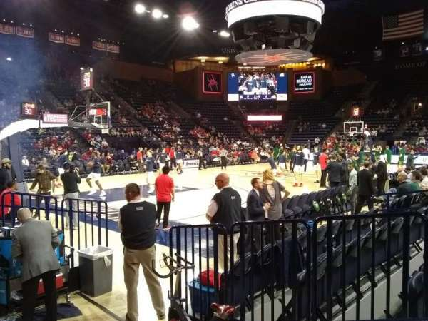 Robins Center, section: 9, row: B, seat: 4