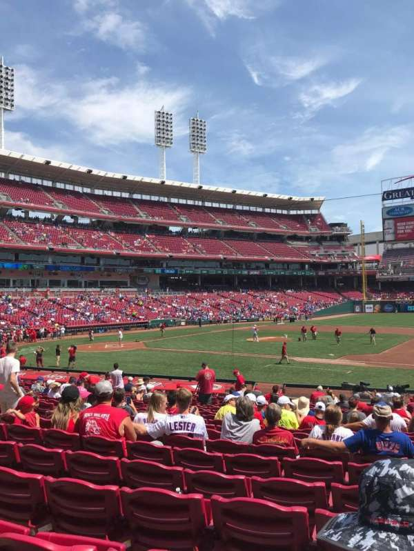 Great American Ball Park, section: 131, row: AA, seat: 5