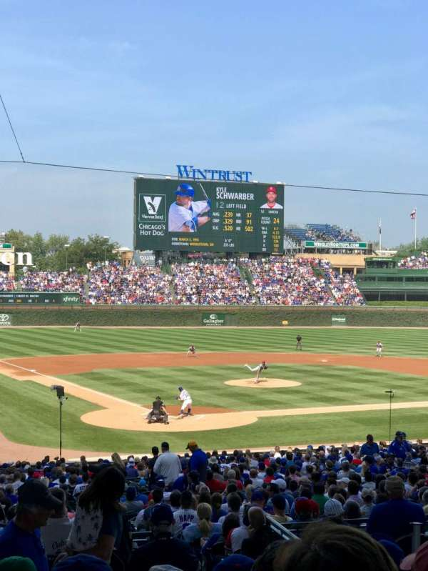 Wrigley Field, section: 220, row: 6, seat: 4