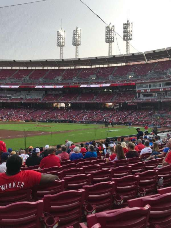 Great American Ball Park, section: 113, row: m, seat: 12