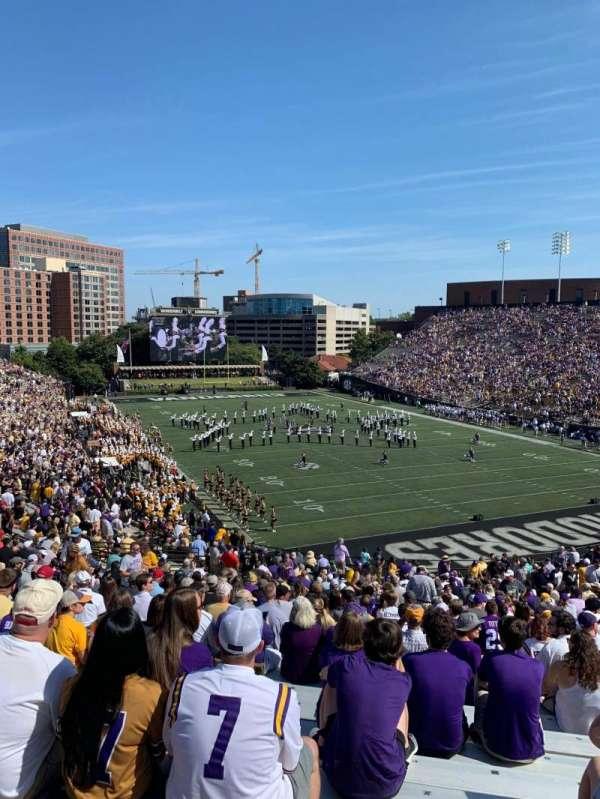 Vanderbilt Stadium, section: End zone L, row: 12