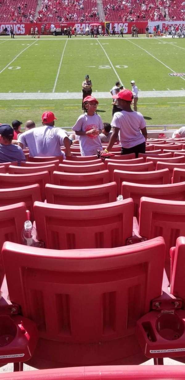Raymond James Stadium, section: 133, row: S, seat: 17