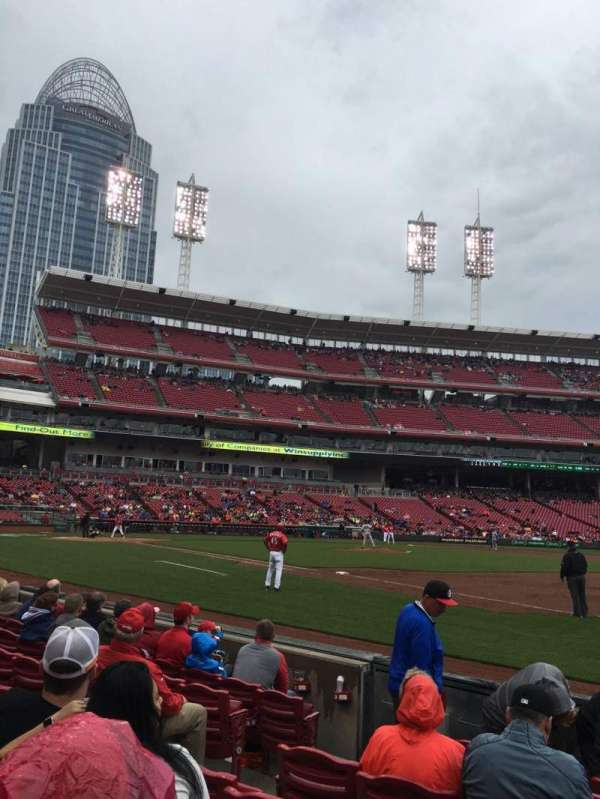 Great American Ball Park, section: 136, row: 6, seat: 7