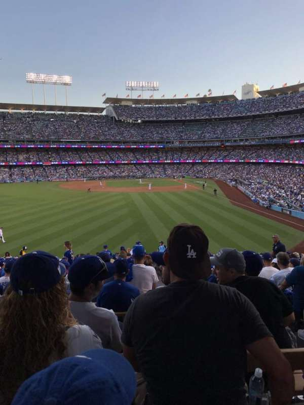 Dodger Stadium, section: 303PL, row: Y, seat: 4
