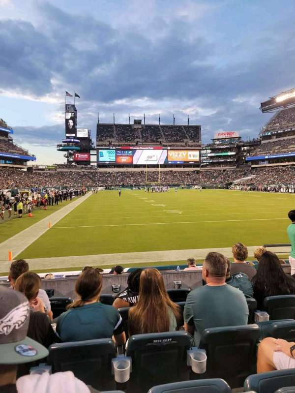 Lincoln Financial Field, section: 109, row: 6, seat: 7