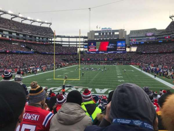 Gillette Stadium, section: 142, row: 24, seat: 11