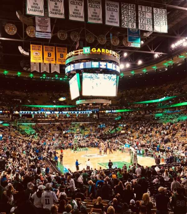TD Garden, section: Loge 7, row: 17, seat: 25