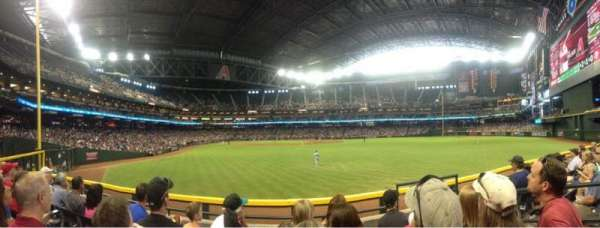 Chase Field, section: 102, row: 4, seat: 6