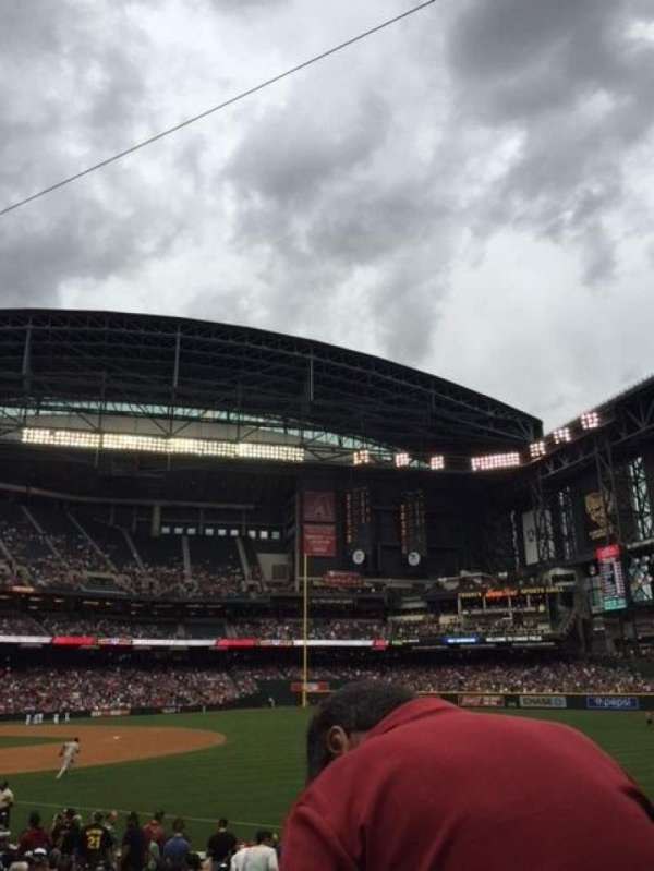 Chase Field, section: 111, row: 19, seat: 16