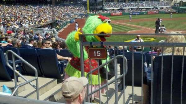 PNC Park, section: 115, row: A, seat: 5