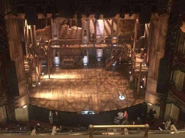 CIBC Theatre, section: Balcony lc, row: E, seat: 411