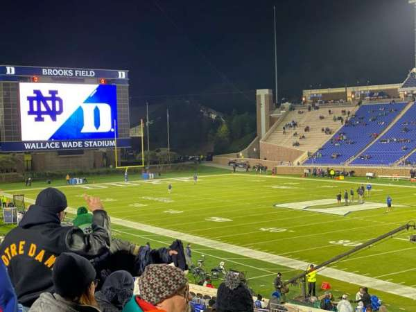 Wallace Wade Stadium, section: 110, row: AA, seat: 1