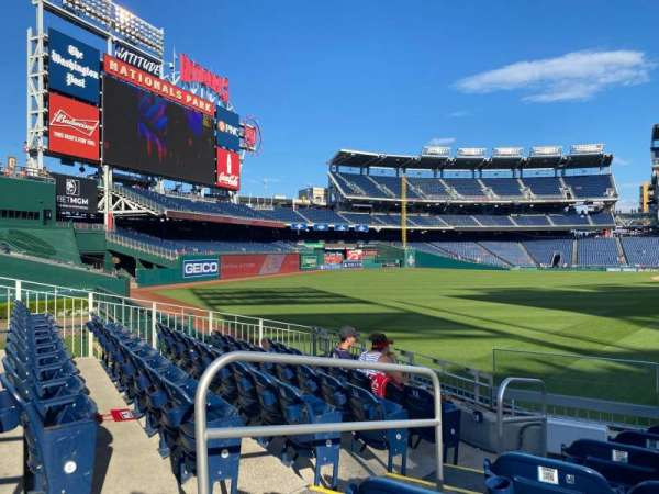 Nationals Park, section: 104, row: G, seat: 10-11
