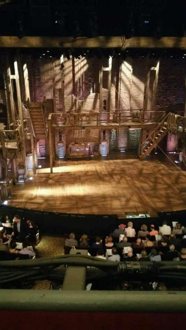 Richard Rodgers Theatre, section: Front Mezzanine C, row: A, seat: 114