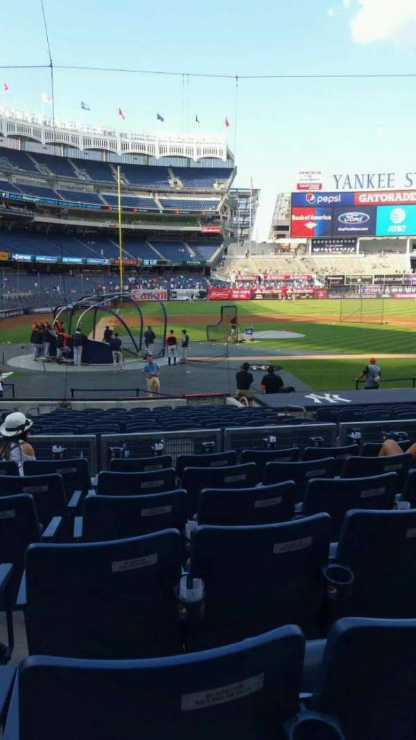 Yankee Stadium, section: 117B, row: 7, seat: 8