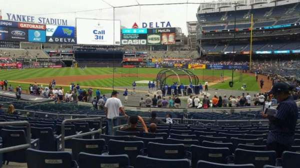 Yankee Stadium, section: 121A, row: 11, seat: 7