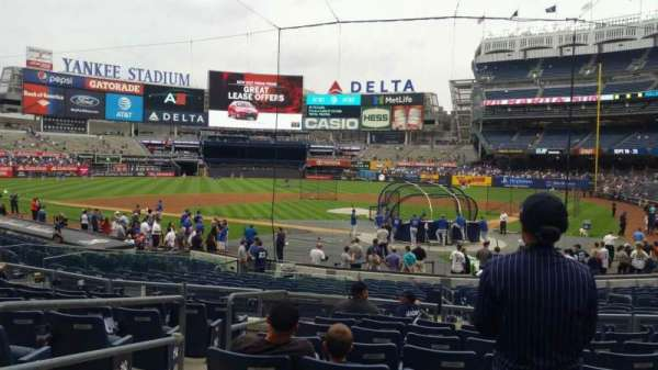 Yankee Stadium, section: 121A, row: 9, seat: 11