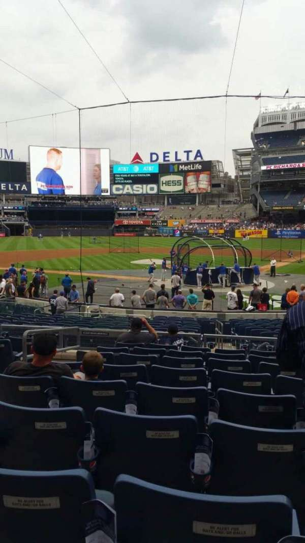 Yankee Stadium, section: 121A, row: 9, seat: 10