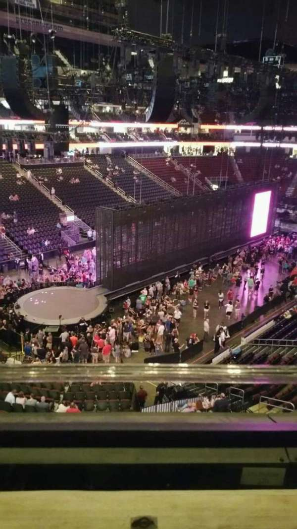 Prudential Center, section: 107, row: 1, seat: 12