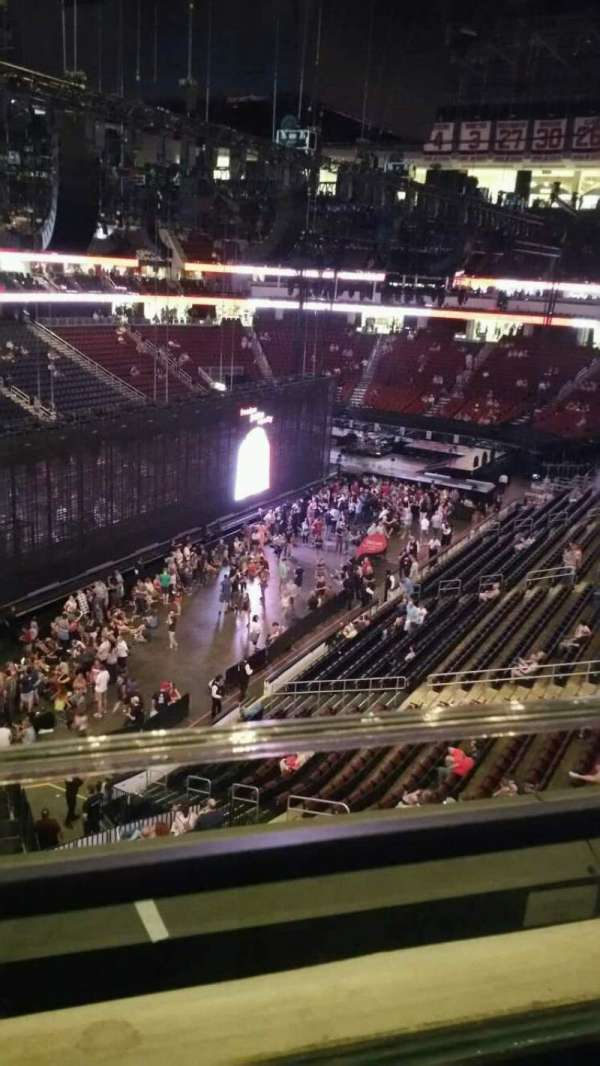 Prudential Center, section: 107, row: 1, seat: 10