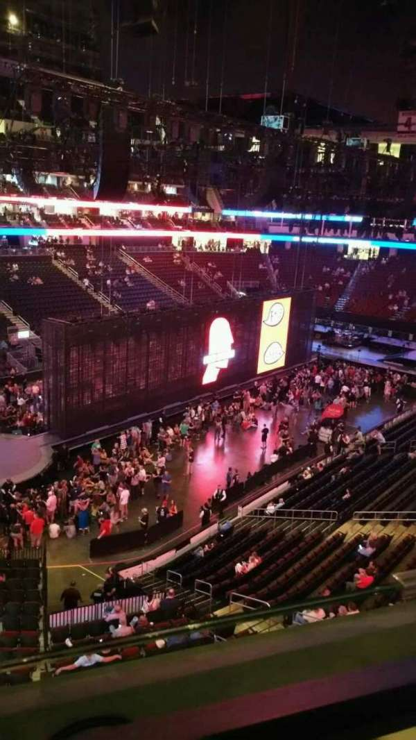 Prudential Center, section: 107, row: 1, seat: 6