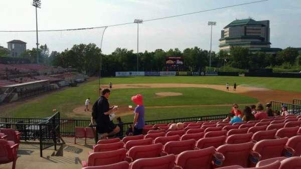 Yogi Berra Stadium, section: KK, row: 10, seat: 1