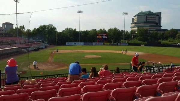Yogi Berra Stadium, section: KK, row: 10, seat: 7