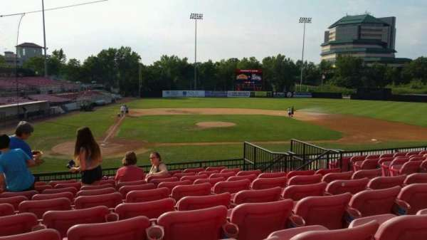 Yogi Berra Stadium, section: KK, row: 10, seat: 12