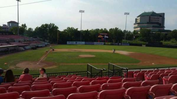 Yogi Berra Stadium, section: KK, row: 10, seat: 14
