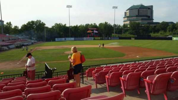 Yogi Berra Stadium, section: KK, row: 10, seat: 18