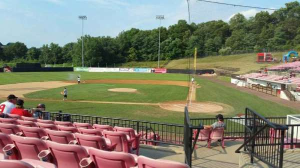 Yogi Berra Stadium, section: FF, row: 7, seat: 18