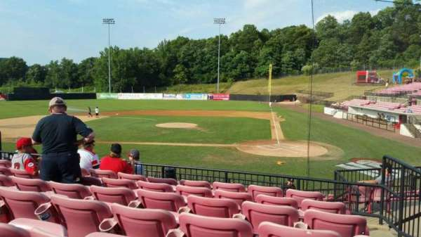 Yogi Berra Stadium, section: FF, row: 7, seat: 14