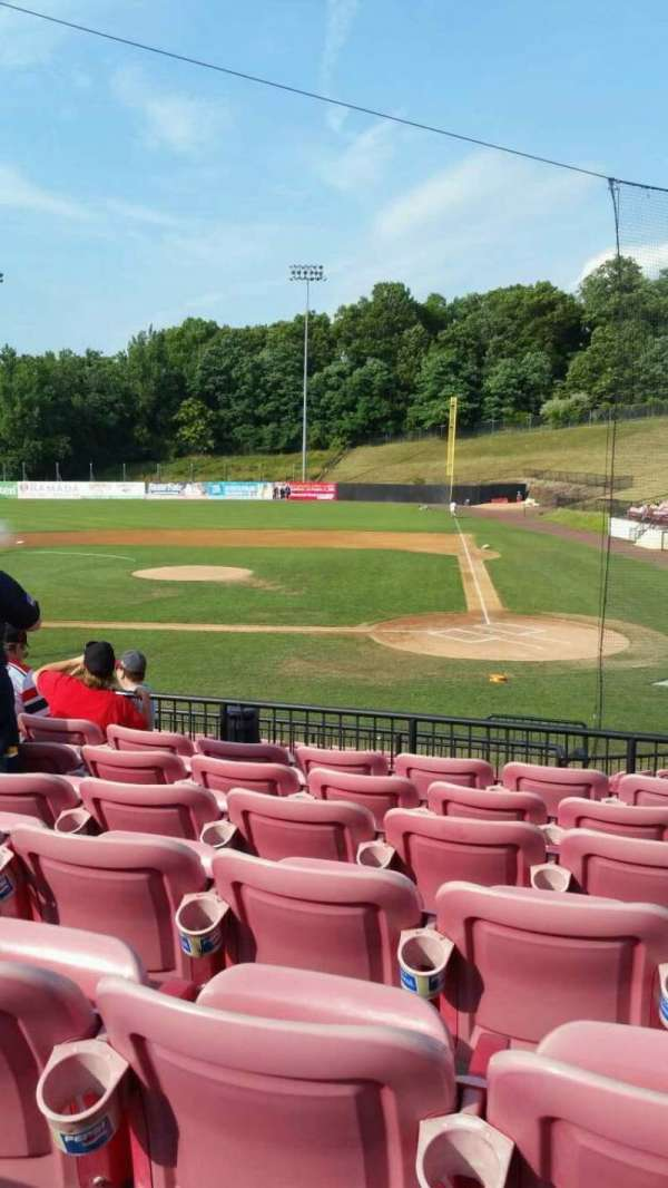 Yogi Berra Stadium, section: FF, row: 7, seat: 13
