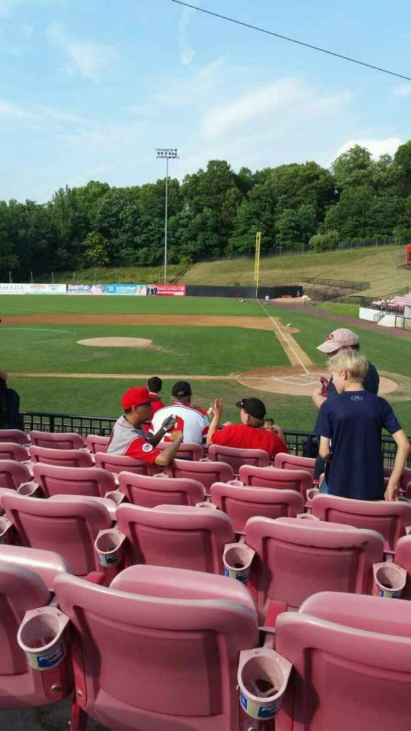 Yogi Berra Stadium, section: FF, row: 7, seat: 9