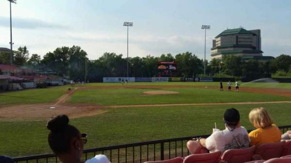 Yogi Berra Stadium, section: K, row: 4, seat: 5
