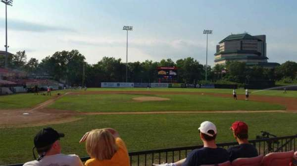 Yogi Berra Stadium, section: K, row: 4, seat: 9