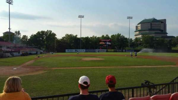 Yogi Berra Stadium, section: K, row: 4, seat: 11