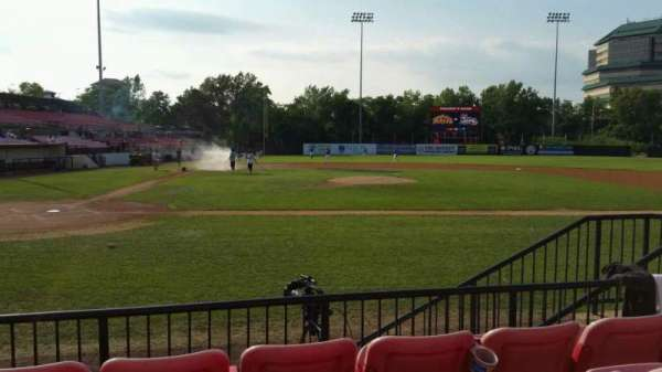 Yogi Berra Stadium, section: K, row: 4, seat: 17