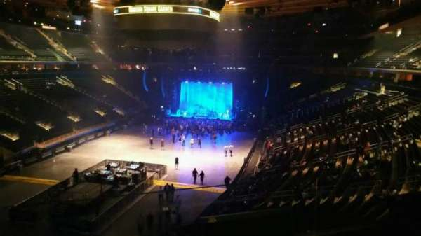 Madison Square Garden, section: 206, row: 2, seat: 4