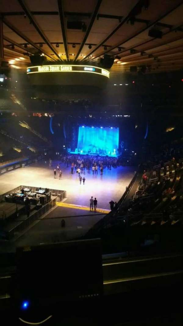 Madison Square Garden, section: 206, row: 2, seat: 5