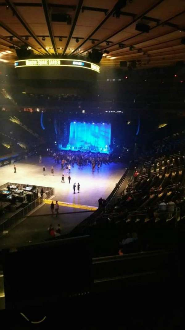 Madison Square Garden, section: 206, row: 2, seat: 7