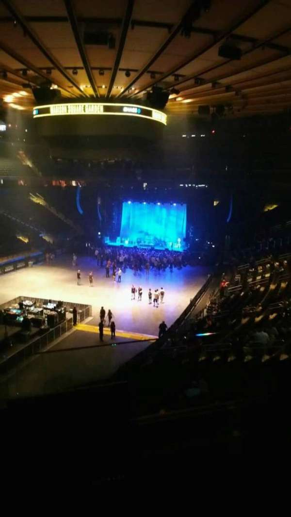 Madison Square Garden, section: 206, row: 2, seat: 9