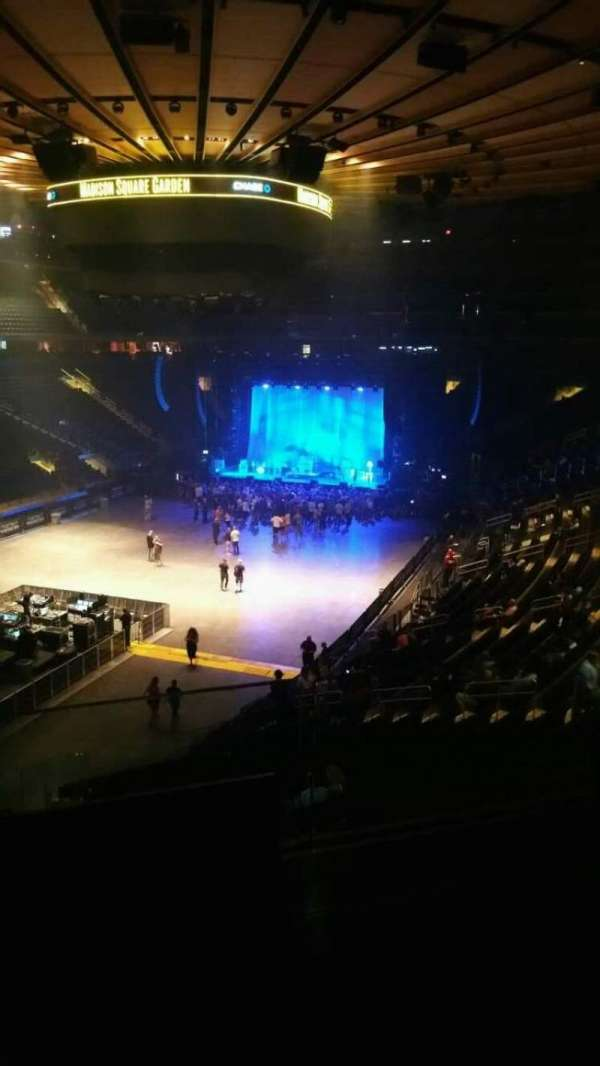 Madison Square Garden, section: 206, row: 2, seat: 13