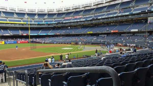 Yankee Stadium, section: 127A, row: 13, seat: 1