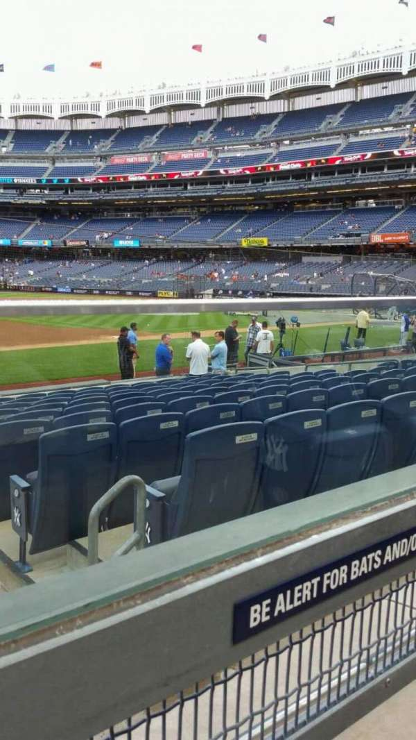 Yankee Stadium, section: 127A, row: 1, seat: 1