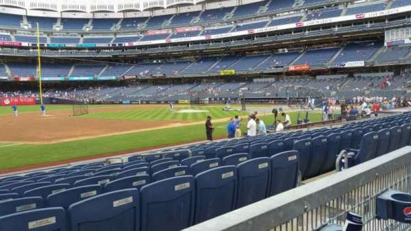 Yankee Stadium, section: 127A, row: 1, seat: 8