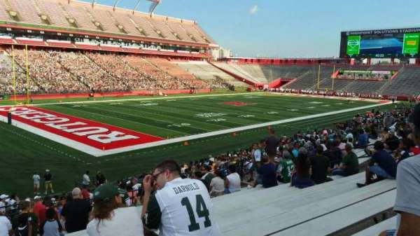 High Point Solutions Stadium, section: 110, row: 25, seat: 22