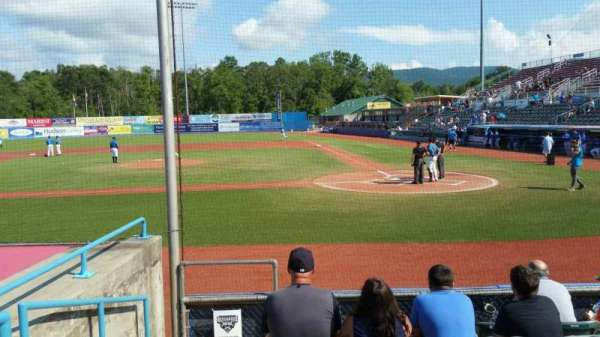 Dutchess Stadium, section: 108, row: F, seat: 1