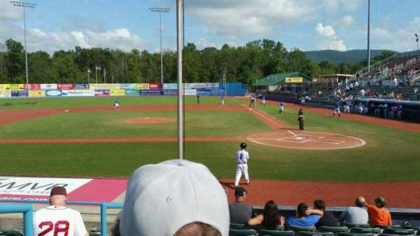 Dutchess Stadium, section: 108, row: J, seat: 1